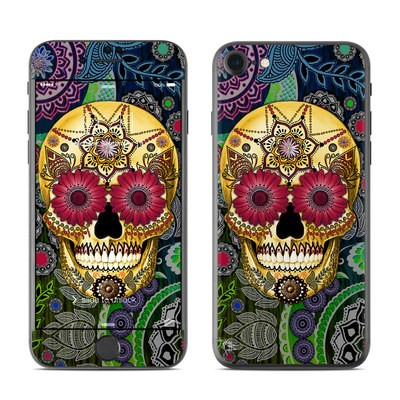 Apple iPhone 7 Skin - Sugar Skull Paisley