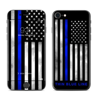 Apple iPhone 7 Skin - Thin Blue Line