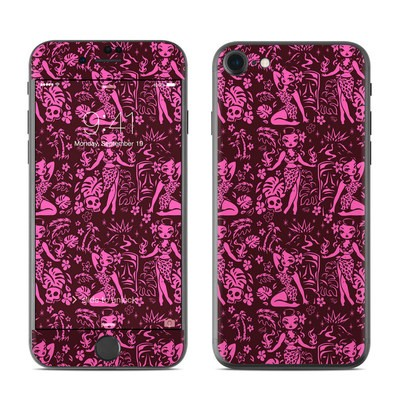 Apple iPhone 7 Skin - Tiki Temptress Hotpink