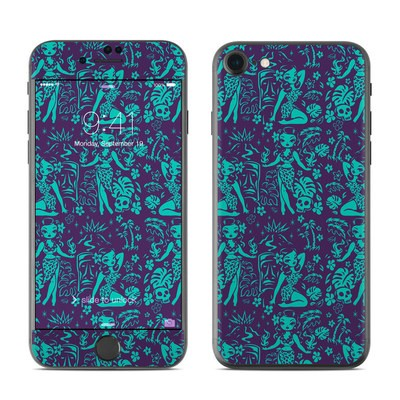Apple iPhone 7 Skin - Tiki Temptress Teal