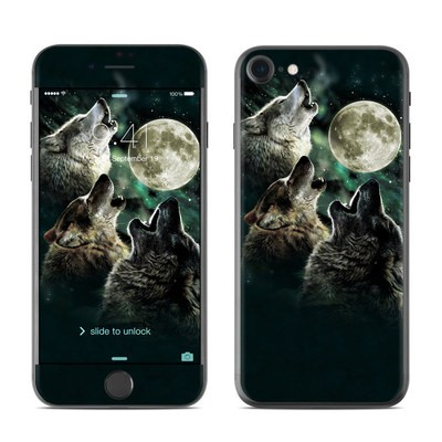 Apple iPhone 7 Skin - Three Wolf Moon