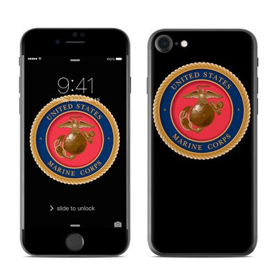 Apple iPhone 7 Skin - USMC Black