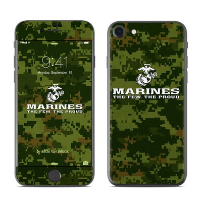 Apple iPhone 7 Skin - USMC Camo