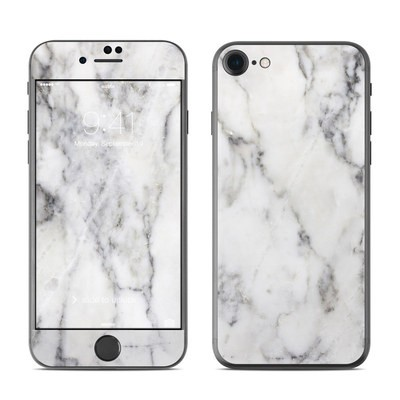 Apple iPhone 7 Skin - White Marble