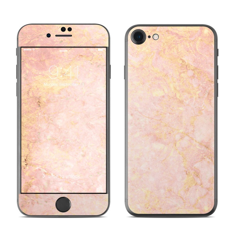 Apple Iphone 7 Skin Rose Gold Marble By Marble Collection Decalgirl