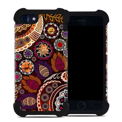 Apple iPhone 7 Bumper Case - Autumn Mehndi