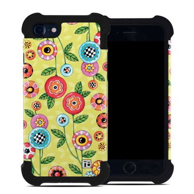 Apple iPhone 7 Bumper Case - Button Flowers
