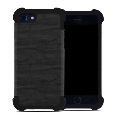 Apple iPhone 7 Bumper Case - Black Woodgrain