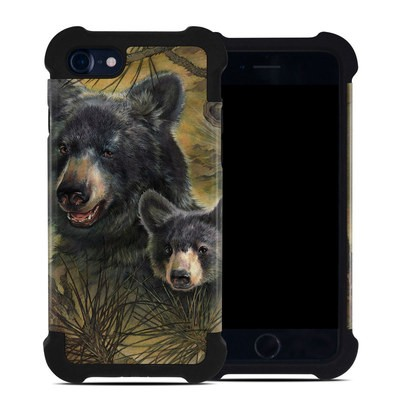 Apple iPhone 7 Bumper Case - Black Bears