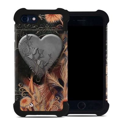Apple iPhone 7 Bumper Case - Black Lace Flower