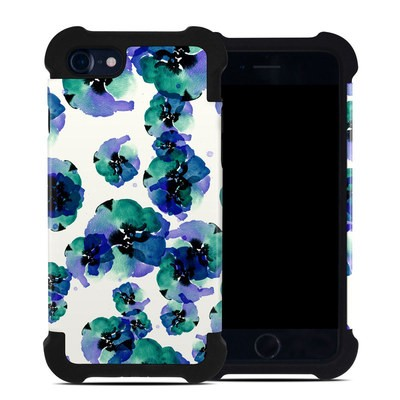 Apple iPhone 7 Bumper Case - Blue Eye Flowers