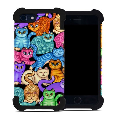 Apple iPhone 7 Bumper Case - Colorful Kittens