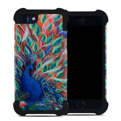 Apple iPhone 7 Bumper Case - Coral Peacock