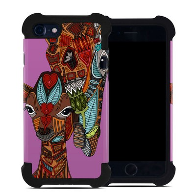 Apple iPhone 7 Bumper Case - Giraffe Love