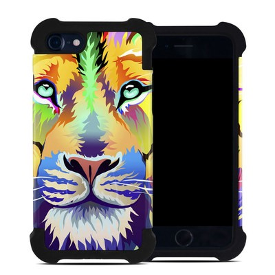 Apple iPhone 7 Bumper Case - King of Technicolor