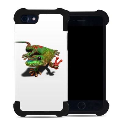 Apple iPhone 7 Bumper Case - Peace Gecko