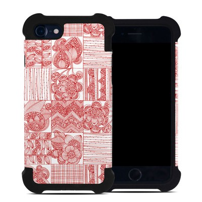 Apple iPhone 7 Bumper Case - Red Quilt