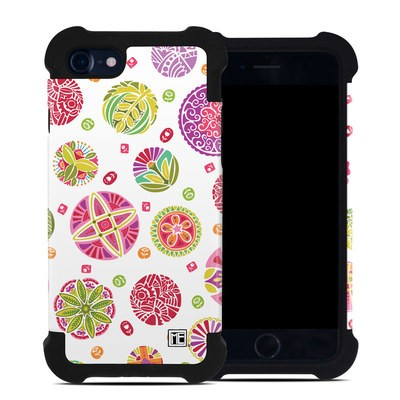 Apple iPhone 7 Bumper Case - Round Flowers
