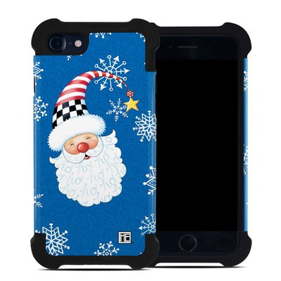Apple iPhone 7 Bumper Case - Santa Snowflake