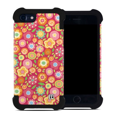 Apple iPhone 7 Bumper Case - Flowers Squished