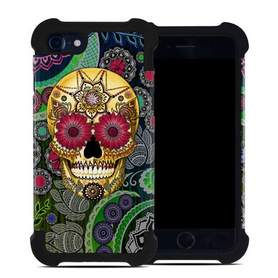 Apple iPhone 7 Bumper Case - Sugar Skull Paisley