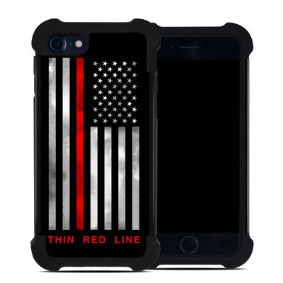 Apple iPhone 7 Bumper Case - Thin Red Line