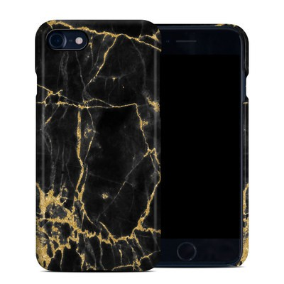 Apple iPhone 7 Clip Case - Black Gold Marble