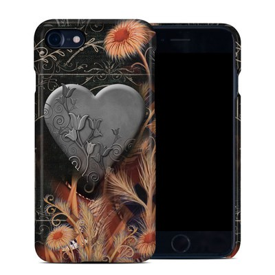 Apple iPhone 7 Clip Case - Black Lace Flower
