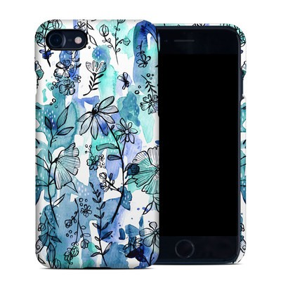 Apple iPhone 7 Clip Case - Blue Ink Floral