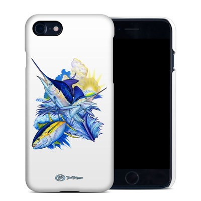 Apple iPhone 7 Clip Case - Blue White and Yellow