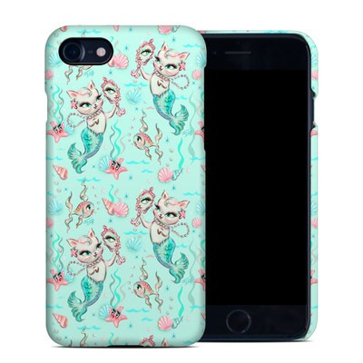 Apple iPhone 7 Clip Case - Merkittens with Pearls Aqua