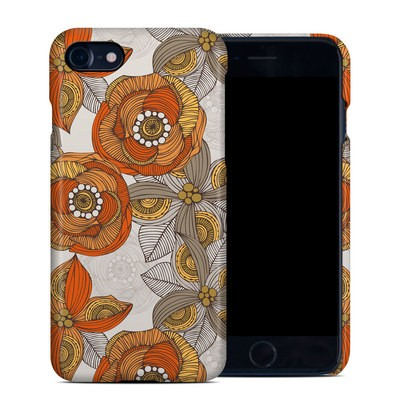 Apple iPhone 7 Clip Case - Orange and Grey Flowers