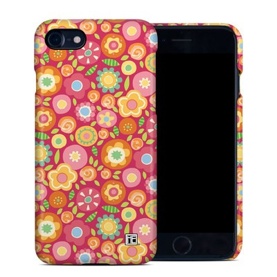 Apple iPhone 7 Clip Case - Flowers Squished