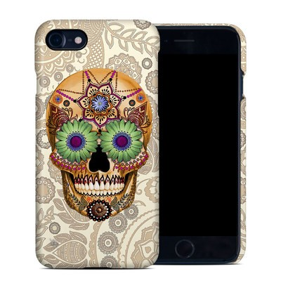 Apple iPhone 7 Clip Case - Sugar Skull Bone