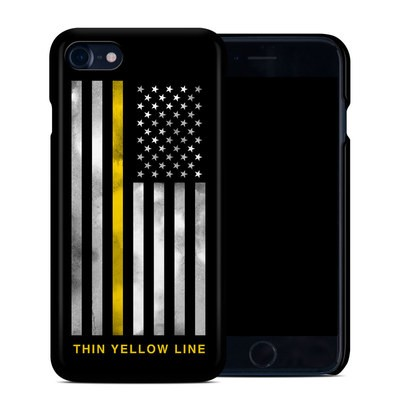 Apple iPhone 7 Clip Case - Thin Yellow Line