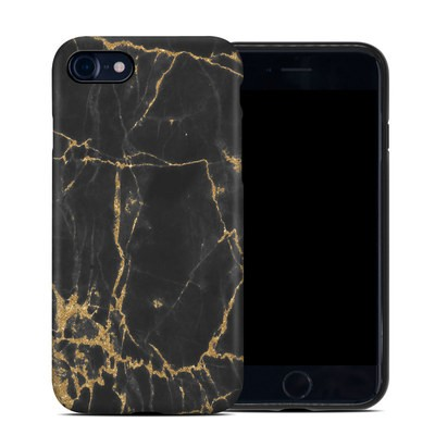 Apple iPhone 7 Hybrid Case - Black Gold Marble