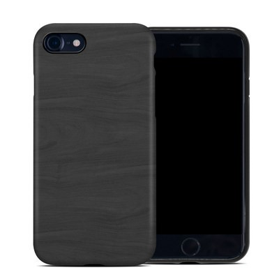 Apple iPhone 7 Hybrid Case - Black Woodgrain