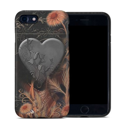 Apple iPhone 7 Hybrid Case - Black Lace Flower