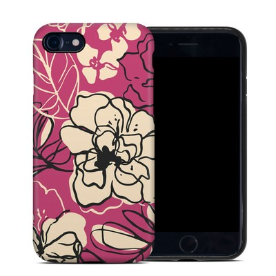 Apple iPhone 7 Hybrid Case - Black Lily