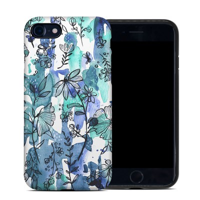 Apple iPhone 7 Hybrid Case - Blue Ink Floral