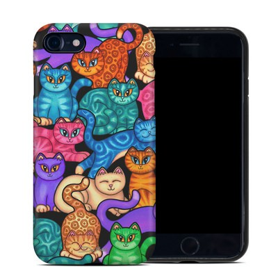 Apple iPhone 7 Hybrid Case - Colorful Kittens