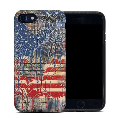 Apple iPhone 7 Hybrid Case - Cobweb Flag