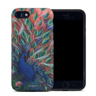 Apple iPhone 7 Hybrid Case - Coral Peacock