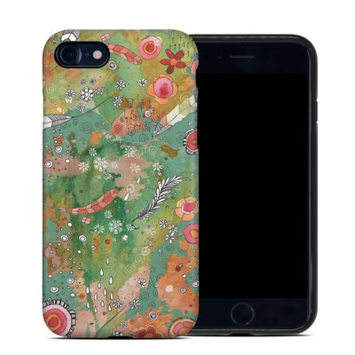 Apple iPhone 7 Hybrid Case - Feathers Flowers Showers