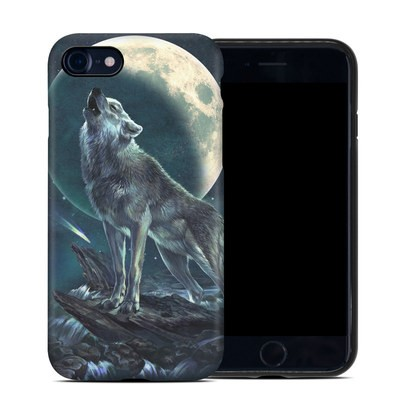 Apple iPhone 7 Hybrid Case - Howling Moon Soloist