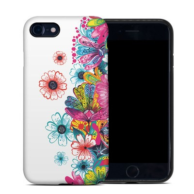 Apple iPhone 7 Hybrid Case - Intense Flowers