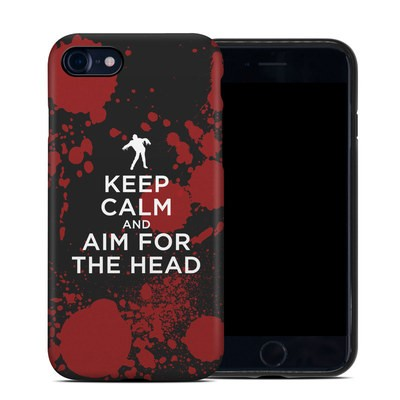 Apple iPhone 7 Hybrid Case - Keep Calm - Zombie