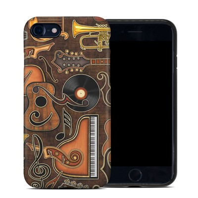 Apple iPhone 7 Hybrid Case - Music Elements