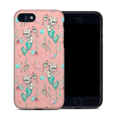 Apple iPhone 7 Hybrid Case - Merkittens with Pearls Blush
