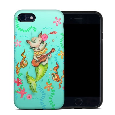 Apple iPhone 7 Hybrid Case - Merkitten with Ukelele